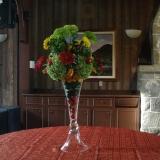 Arrangement floral pour table a buffet thématique Italien